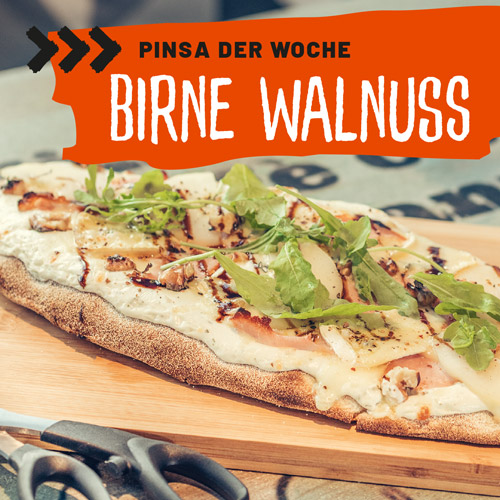 Pinsa Birne Walnuss