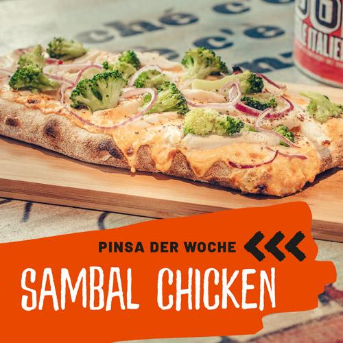 Pinsa Sambal Chicken